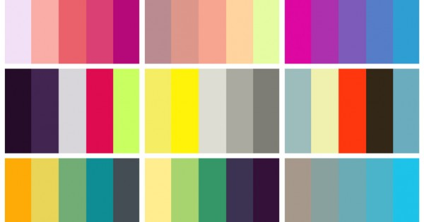 COLOURlovers palettes collage