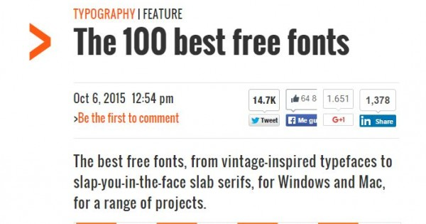 The 100 best free fonts